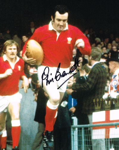 Phil Bennett Autograph Signed Photo - Rugby
